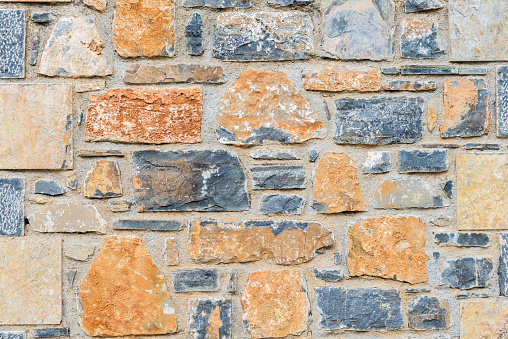 Old Stone Wall Texture Stock Photo - Download Image Now