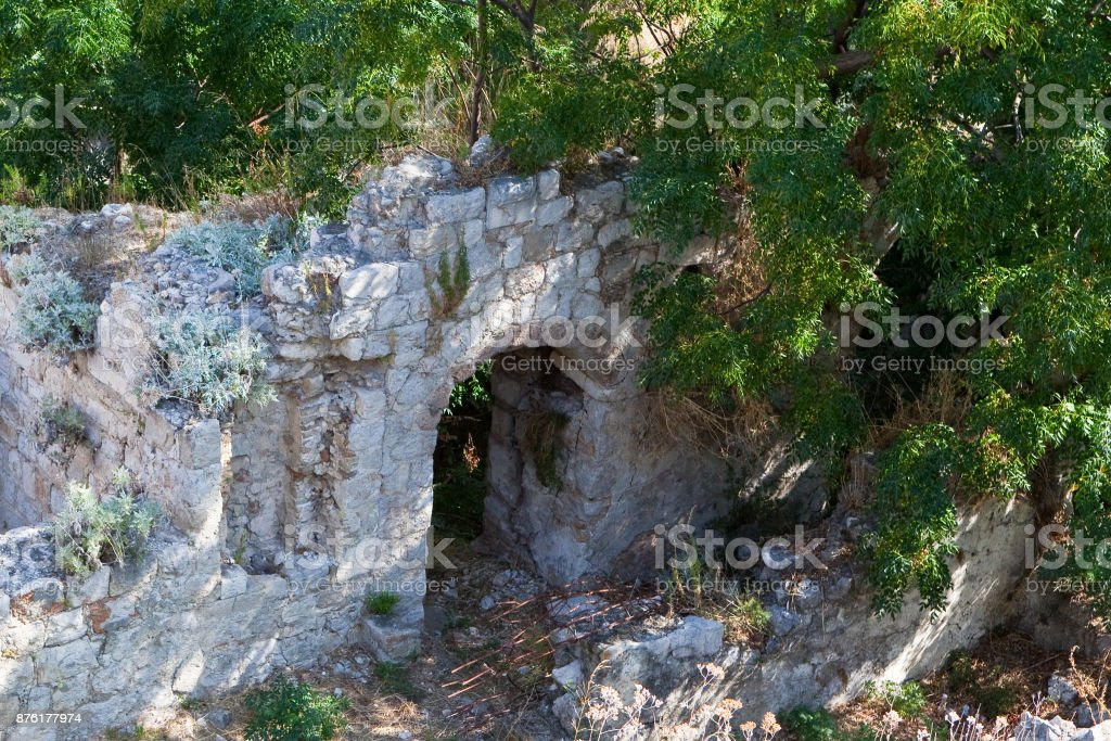 Old stone walls stock photo