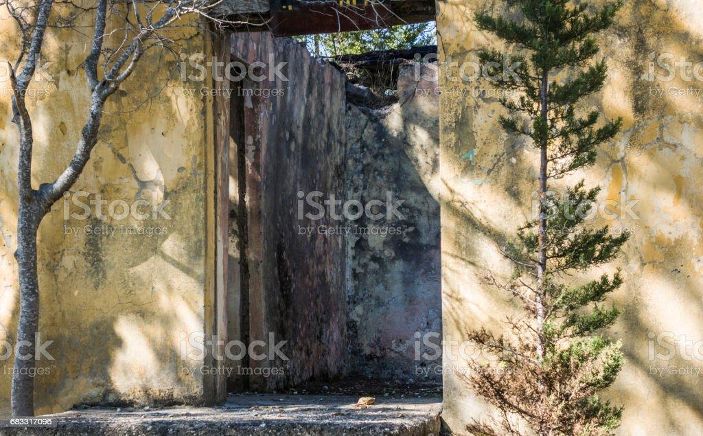 Old stones burned house royalty-free stock photo