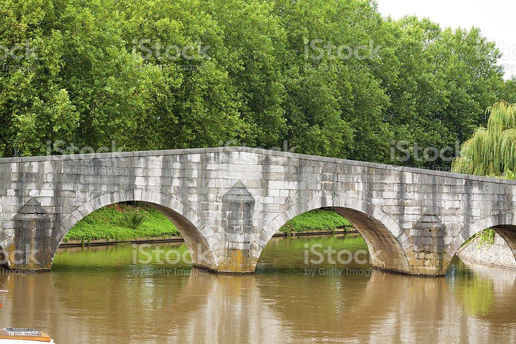Old stony bridge stock photo