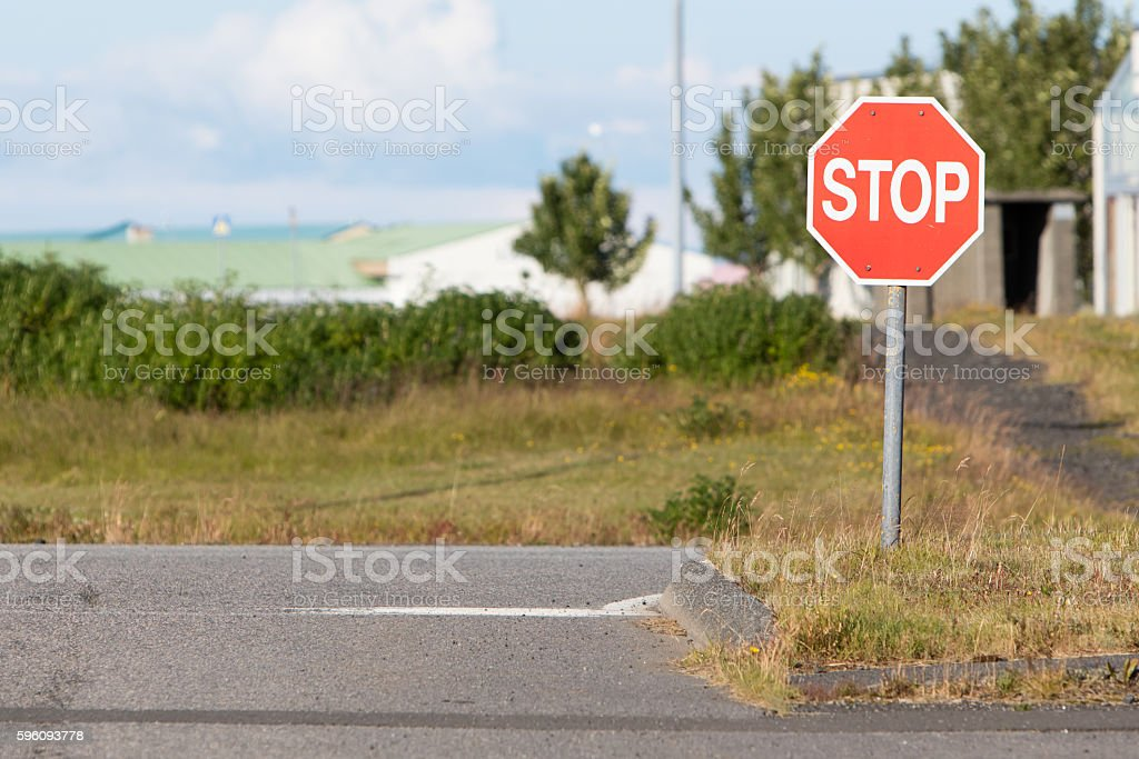 Old stop sign on an abandoned USAF air base royalty-free stock photo