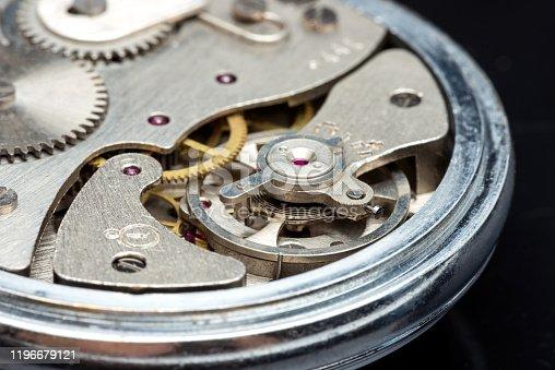 Old stopwatch Mechanism Clockwork