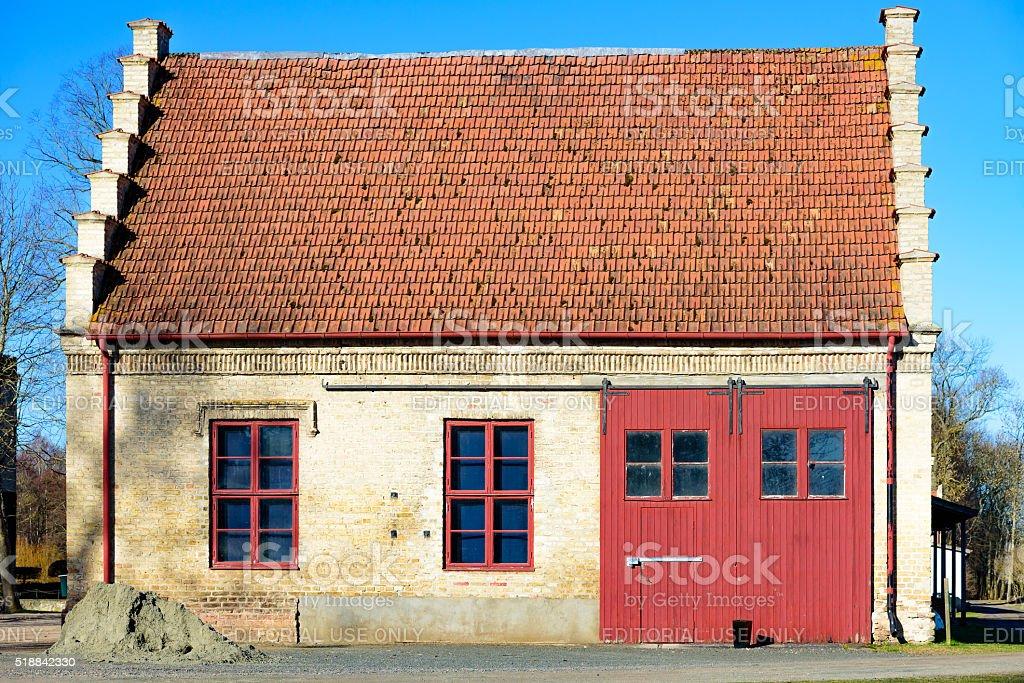 Old storage building stock photo