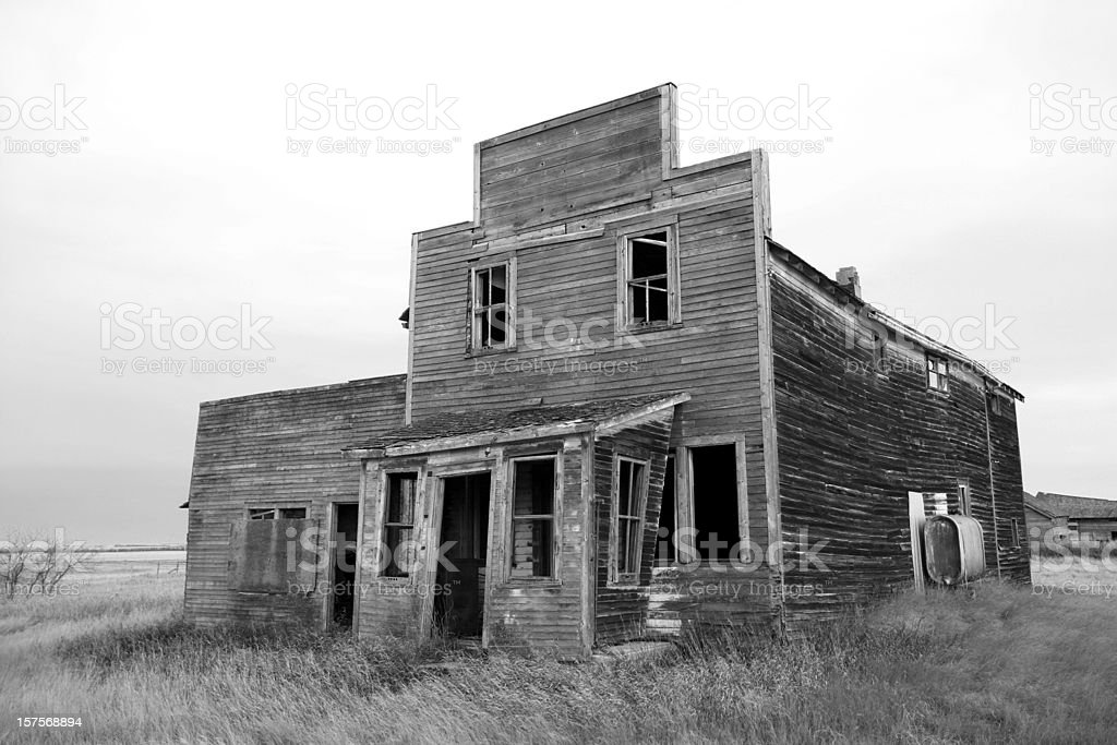 Old Store in a Ghost Town stock photo