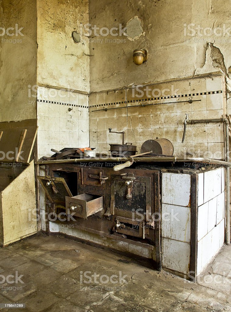 Old Stove - worn out stock photo