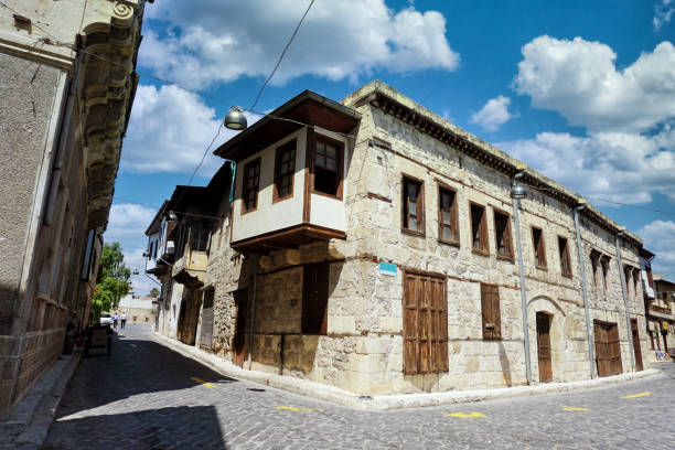 Old Street And Houses From Tarsus, Mersin, Turkey stock photo