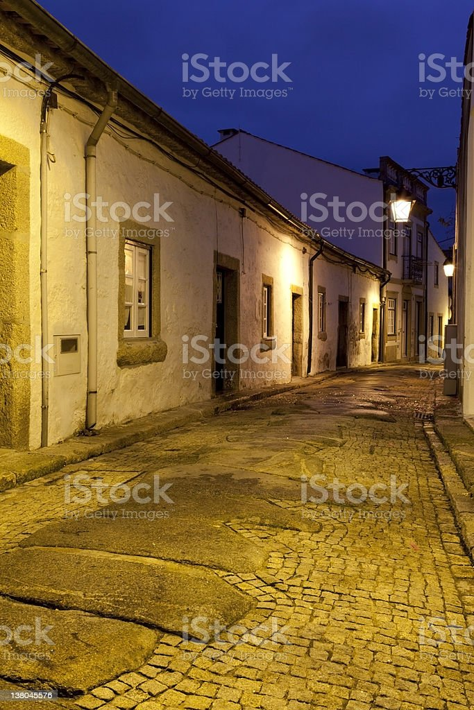 Old street at dawn royalty-free stock photo