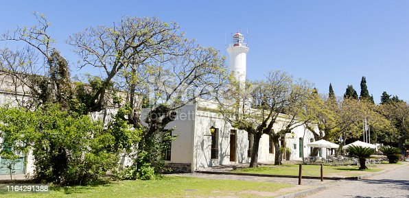 Lighthouse in Colonia del Sacramento, small colonial town, Uruguay.