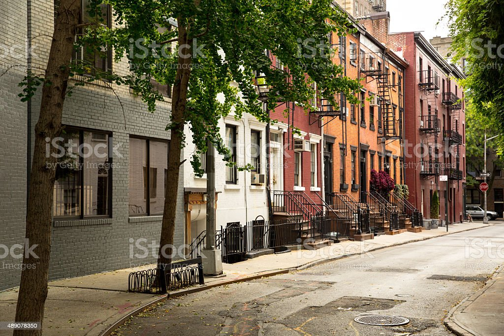 Old Street in Greenwitch Village New York stock photo