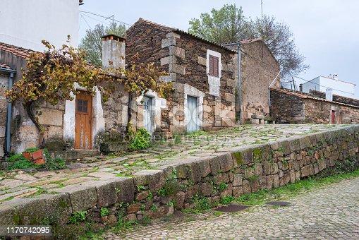 Old street in idanha a velha, Portugal