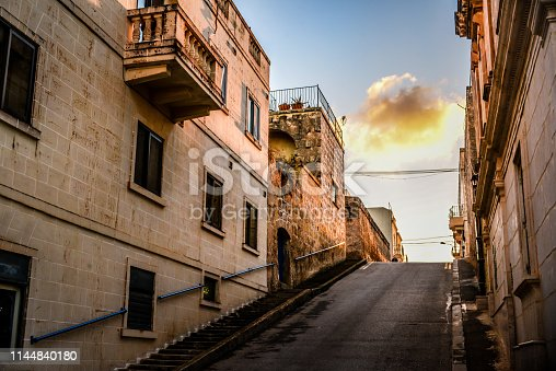 Old Street In Mdina, Malta