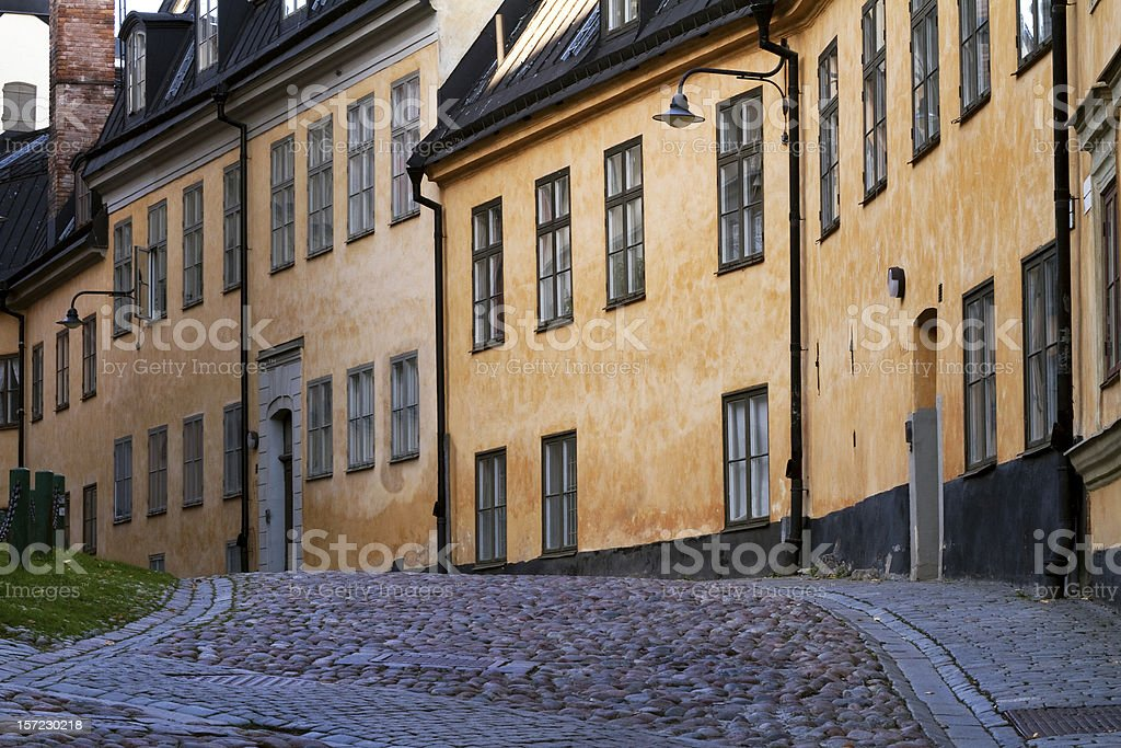 Old street in Sodermalm, Stockholm. royalty-free stock photo