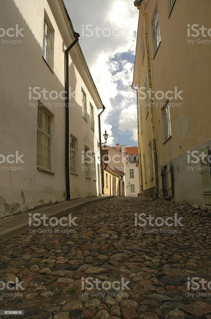 Old street in Tallin royalty-free stock photo