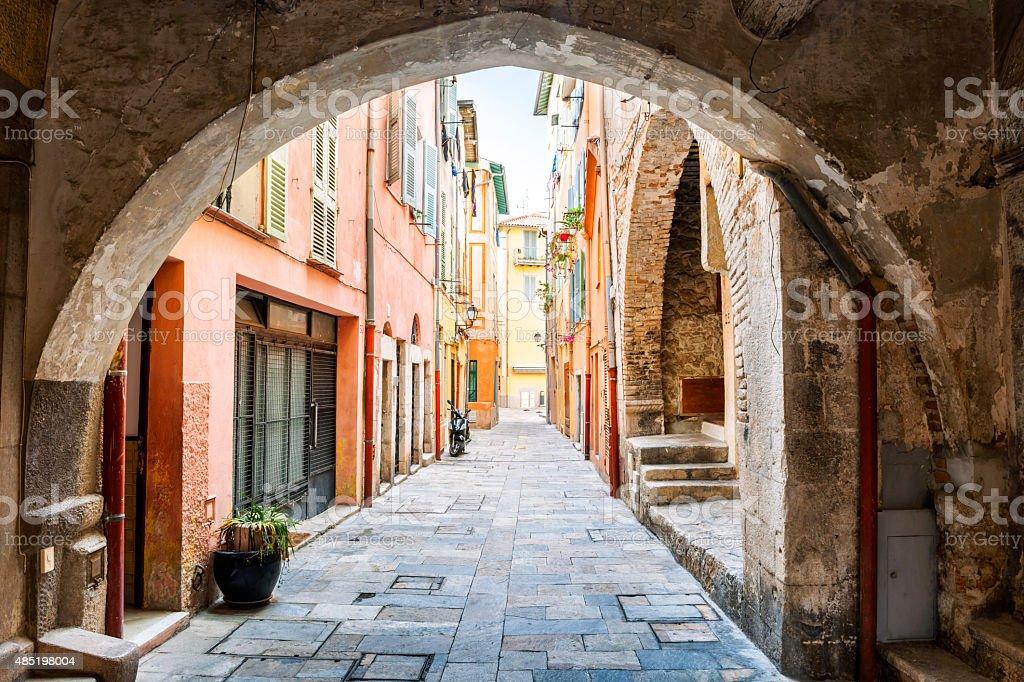 Old street in Villefranche-sur-Mer