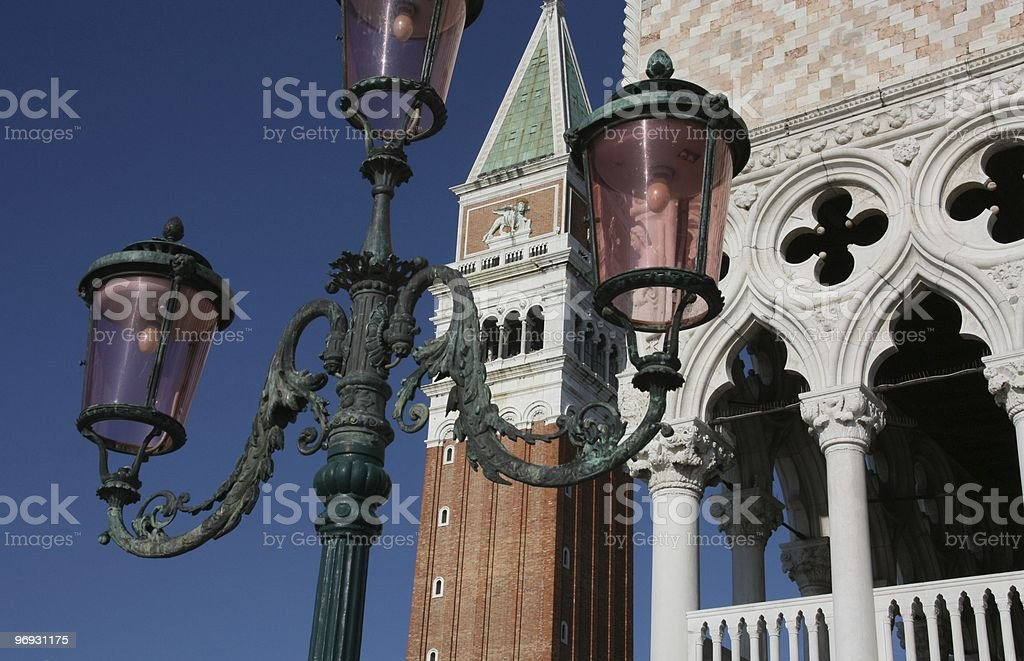 Old street lamp in Venice royalty-free stock photo
