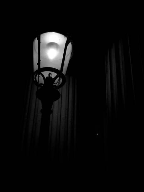 Old street lamp of Paris stock photo