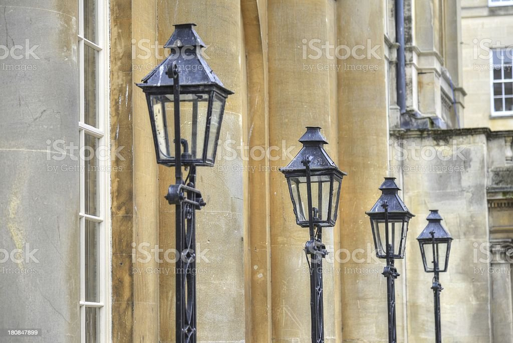 Old street lamps. stock photo