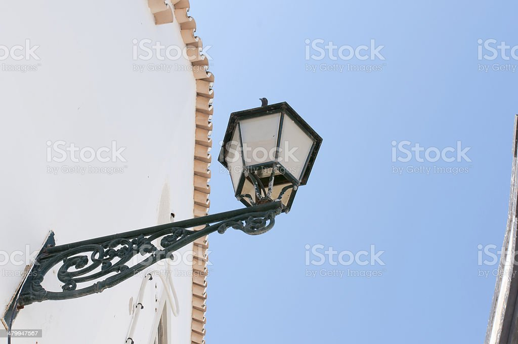 Old street lantern in Portugal stock photo