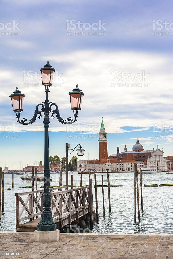 Old street lantern in Venice, Italy royalty-free stock photo
