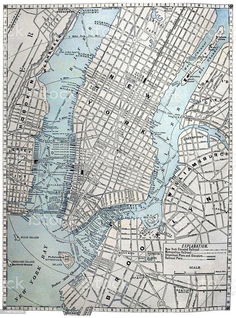 Cartina America New York.Vecchia Mappa Di Strada Di New York City Fotografie Stock E Altre Immagini Di America Del Nord Istock