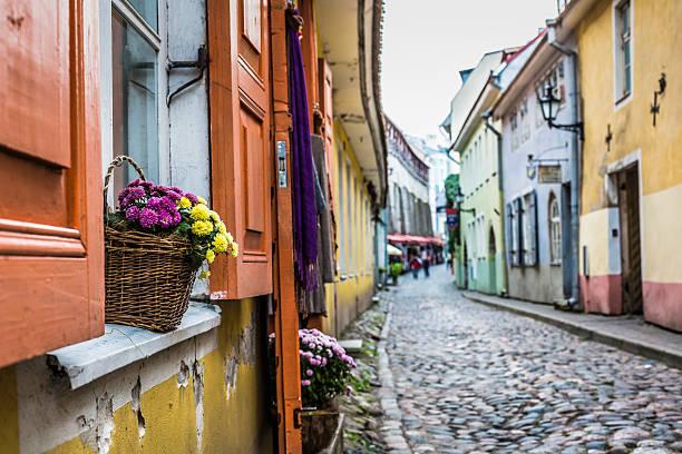 Vieille rue de Tallinn Estonie - Photo