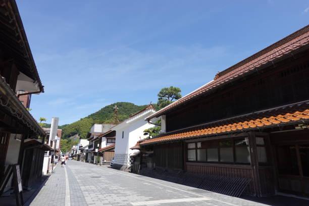 島根県津和野町の古い町並み。 ストックフォト
