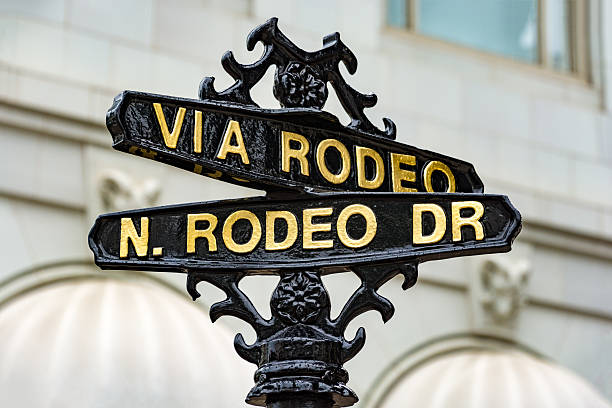 Old Street Sign for Rodeo Drive in Los Angeles stock photo