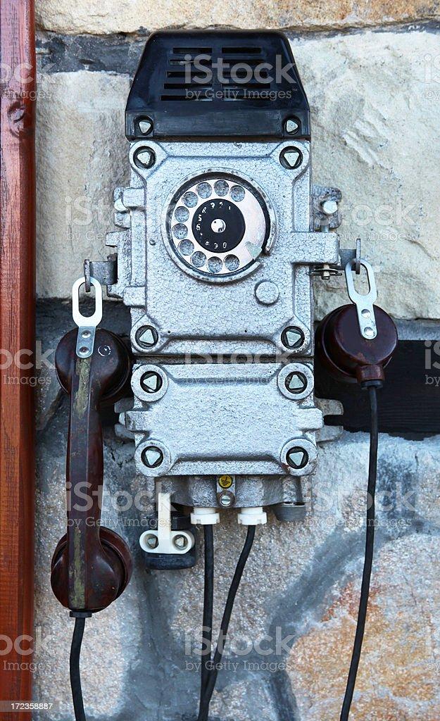 Old Street teléfono foto de stock libre de derechos