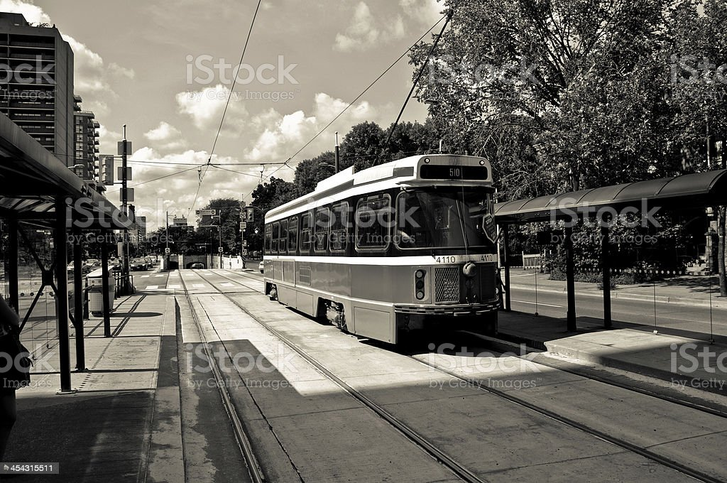 old streetcar royalty-free stock photo