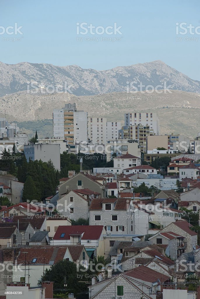 Old streets in Split, Croatia stock photo