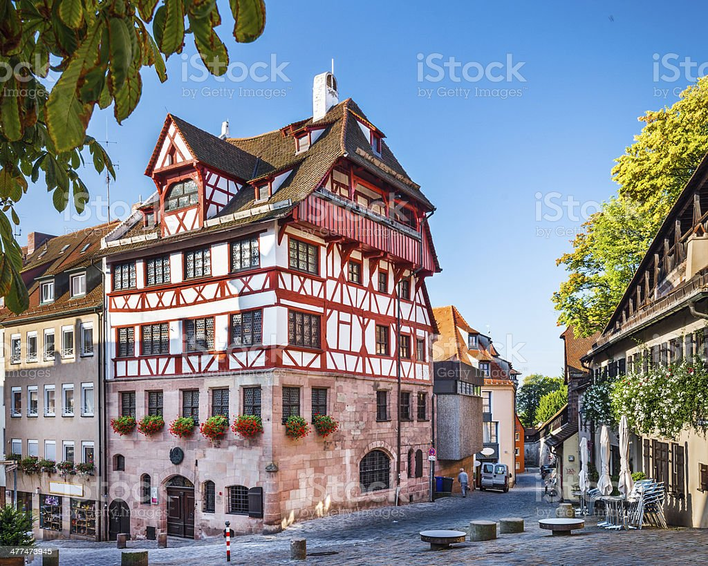 Old Streets of Nuremberg stock photo