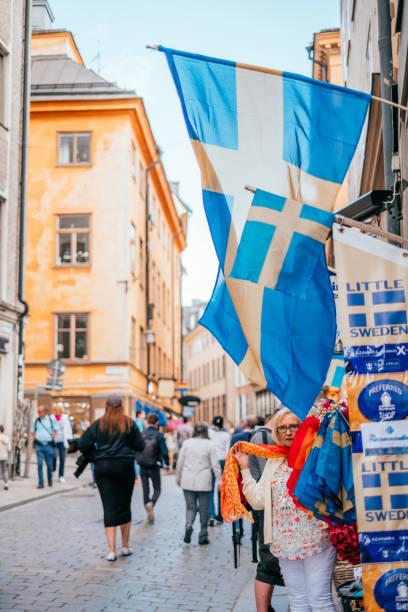 Alte Straßen von Stockholm – Foto