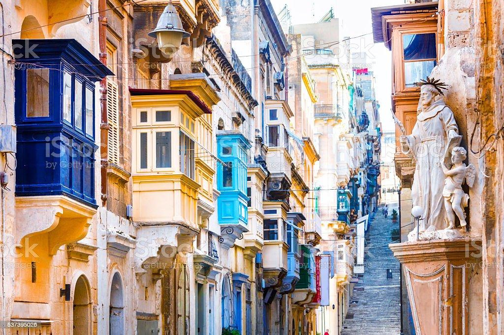 Old Streets Of Valletta,Malta,Europe. royalty-free stock photo