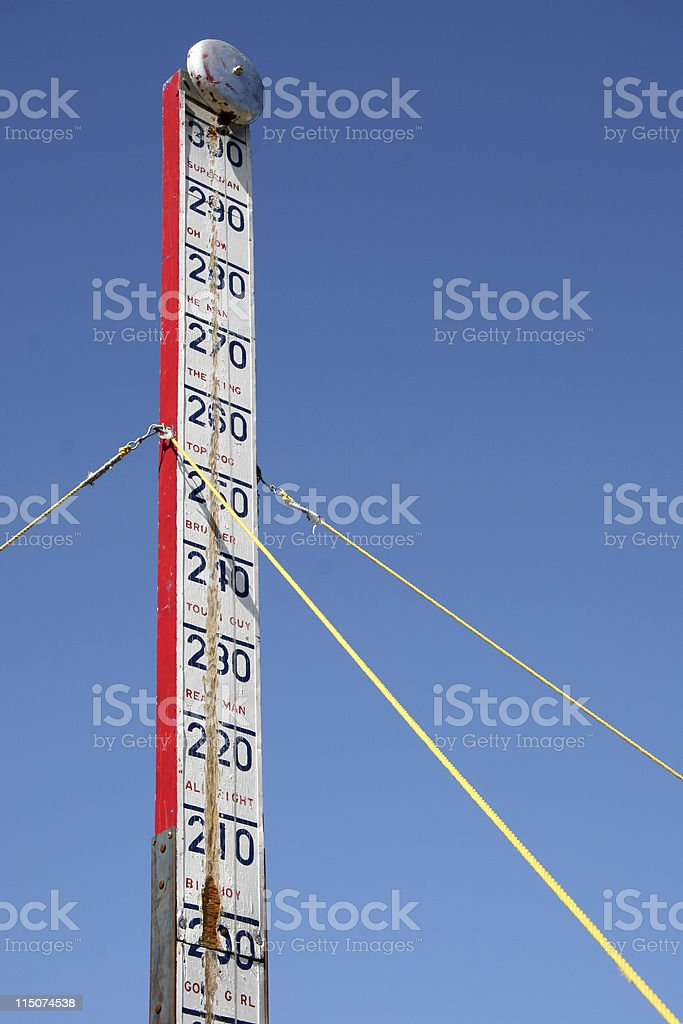 Old strong man bell thing stock photo