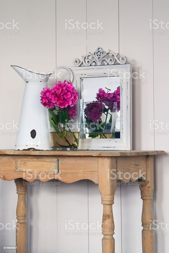old stuff and some flowers royalty-free stock photo