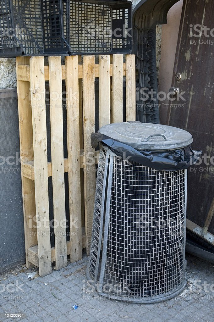 old style bin royalty-free stock photo