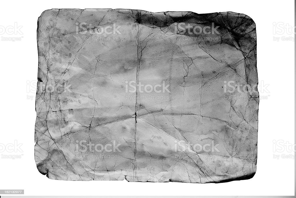 old style black and white crumpled paper stock photo