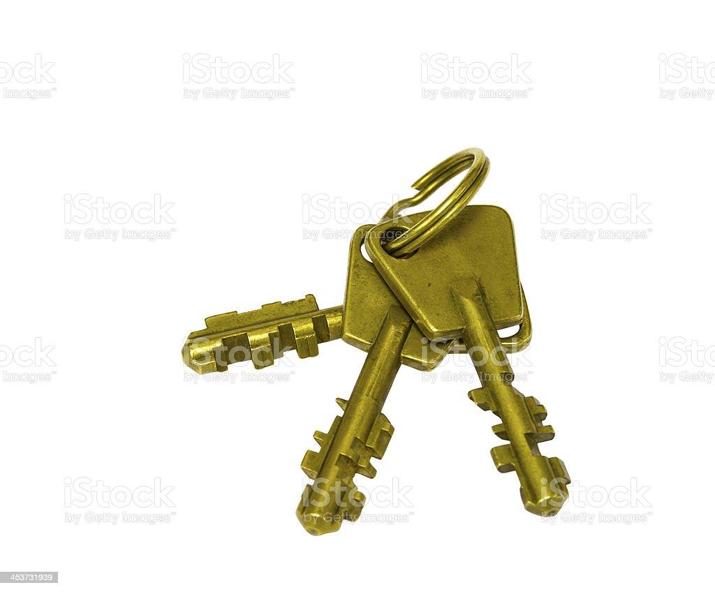 Old style brass keys royalty-free stock photo