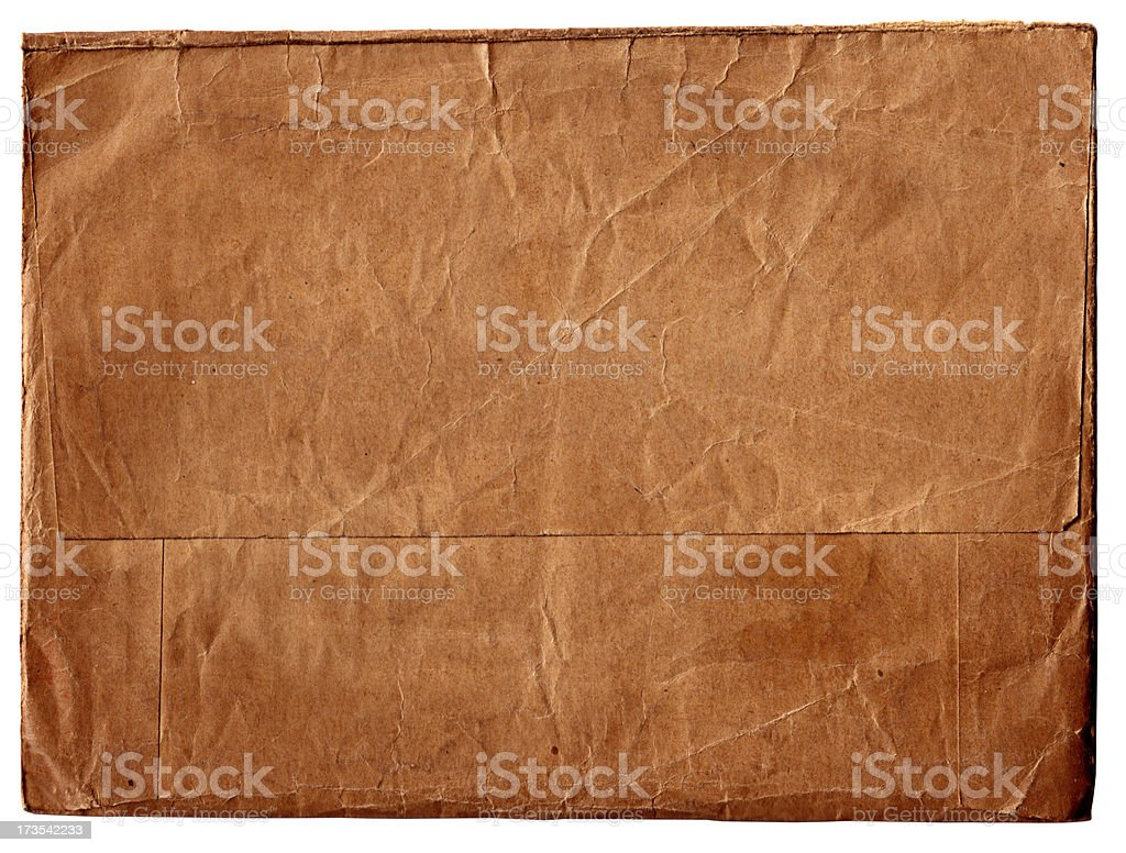 Old Style Brown Envelope royalty-free stock photo