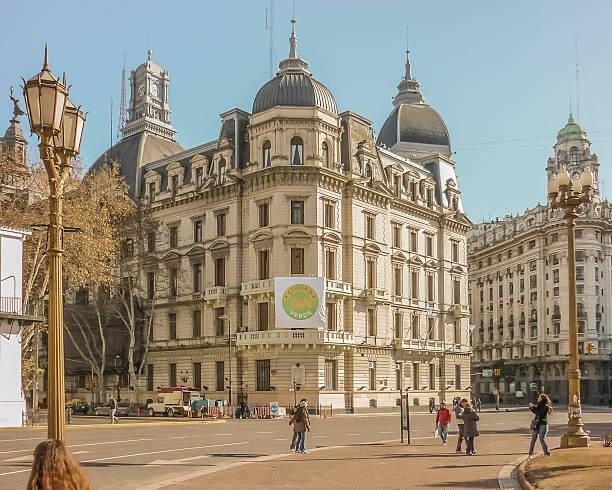 Estilo antiguo edificios en Buenos Aires - foto de stock