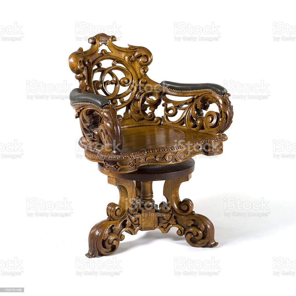 Old Style  Chair stock photo