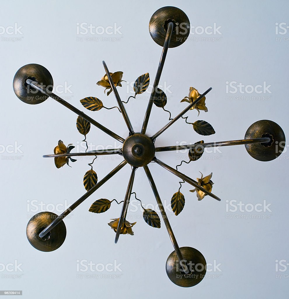 Old style chandelier royalty-free stock photo