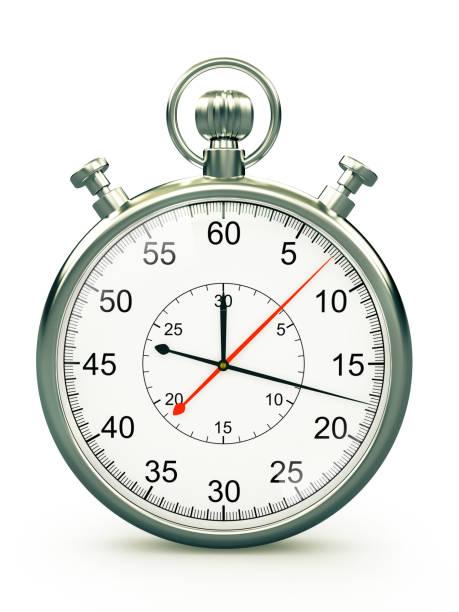 oude stijl chronometer op witte achtergrond - stopwatch stockfoto's en -beelden