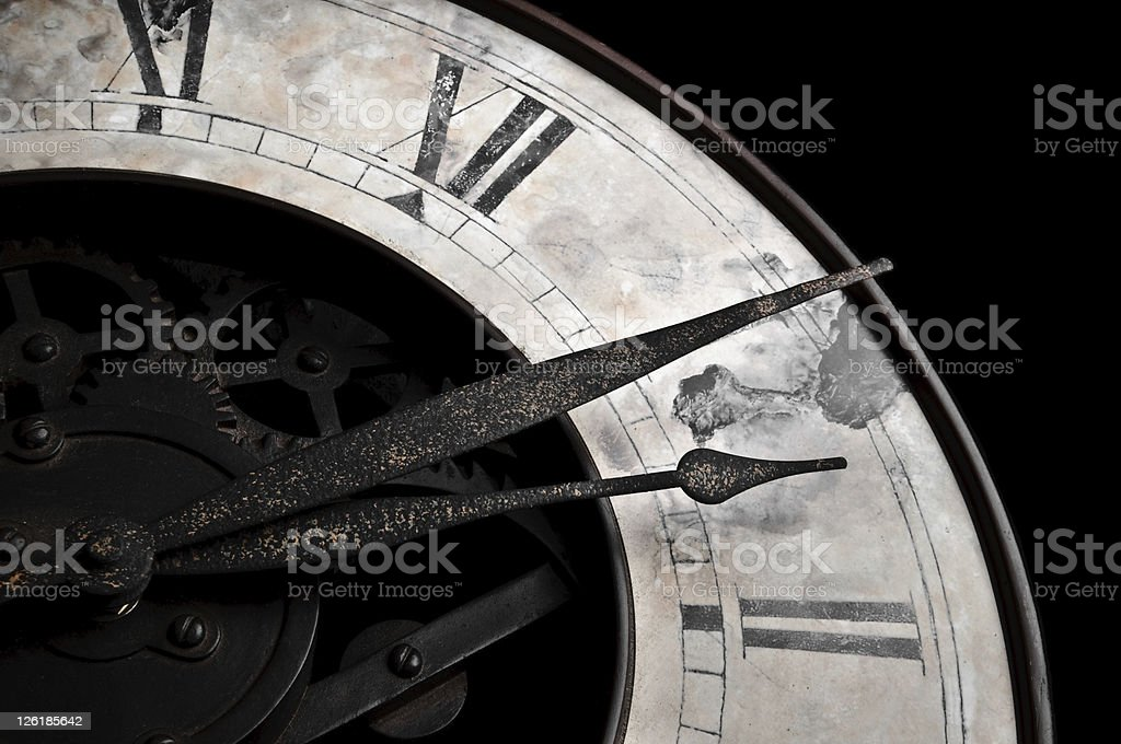 Old style clock royalty-free stock photo
