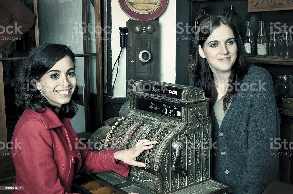 Old style commerce in the old-fashioned store (retro) royalty-free stock photo