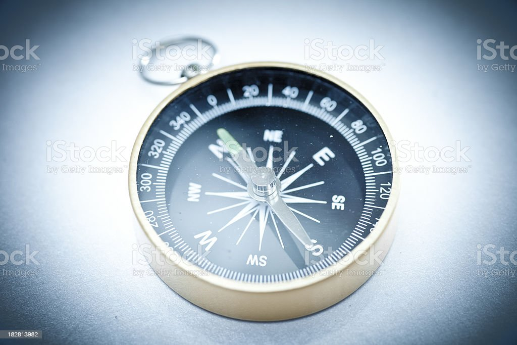 Old style compass royalty-free stock photo