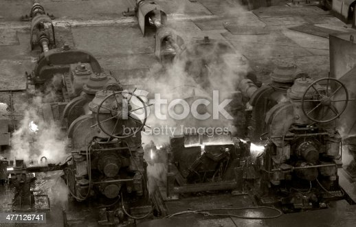 Old style iron engines in Turkey