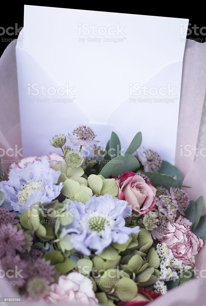 Old style flower gift - Vertical royalty-free stock photo