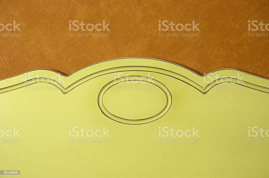 Old style headboard royalty-free stock photo