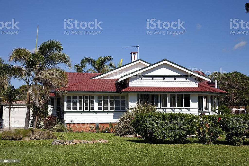 Old Style Home Queensland Australia stock photo